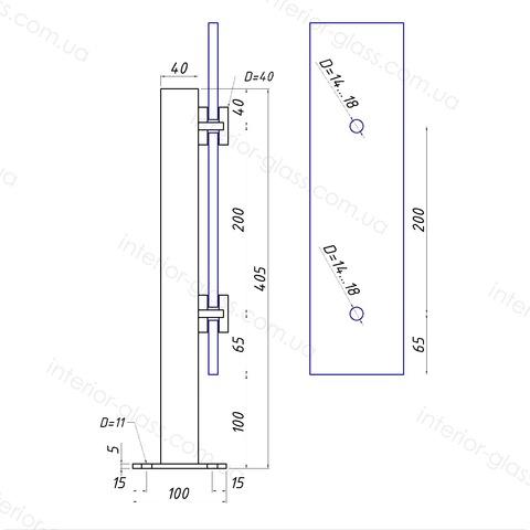 Стойка для стекла ST-40-01