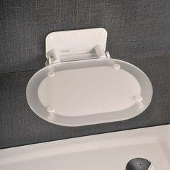 Сиденье для для душа Ravak Chrome Clear белое