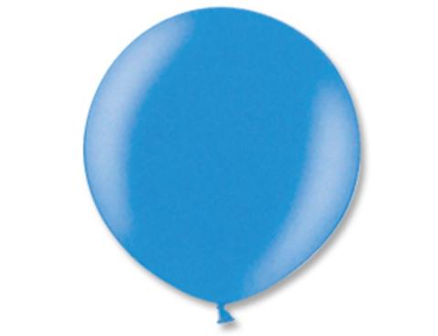Большой шар металлик синий