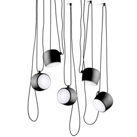 Подвесной светильник копия AIM by Flos (5 плафонов, черный)