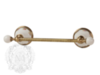 Полотенцедержатель 30см. Migliore Provance ML.PRO-60.541 керамика с декором