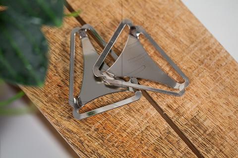 Рамка тройник для подтяжек никель
