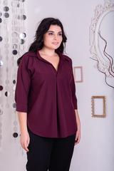 Айрис. Женская блузка больших размеров. Бургунди