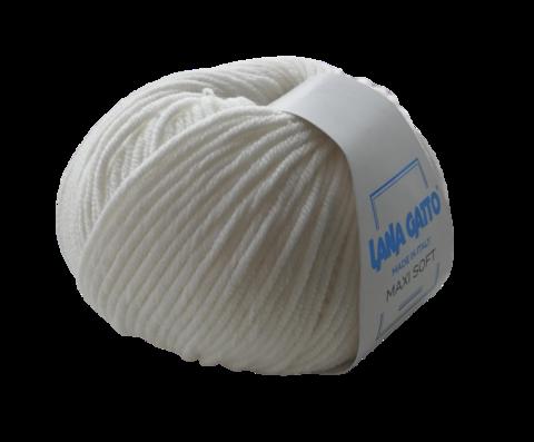 Пряжа Lana Gatto Maxi Soft 10001 белый