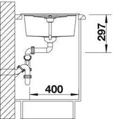 Мойка Blanco Metra 45S Антрацит - схема
