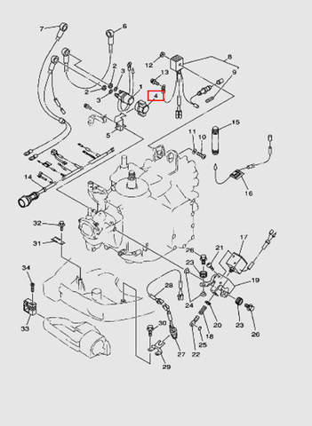 Корпус реле стартера для лодочного мотора T40 Sea-PRO (10-4)