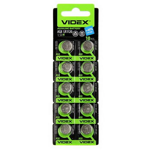 Батарейки часовые Videx AG 8 (LR1120) BL