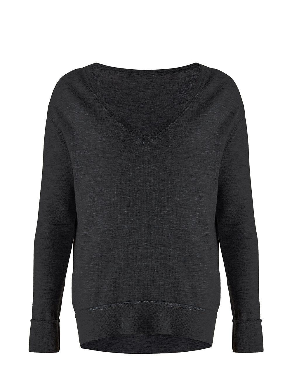 Женский джемпер черного цвета из 100% кашемира - фото 1