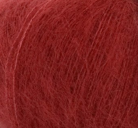 Пряжа Silk Mohair (Силк Мохер). Цвет: красный. Артикул: 6026