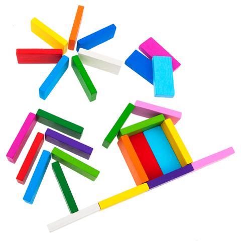 Цветные плашки Томик 28 деталей арт. 6675