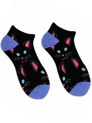Короткие носки Чёрный кот
