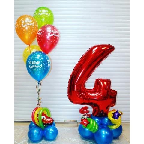 Стойки с шарами к дню рождения мальчика
