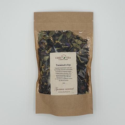 Черный чай с клюквой и брусничным листом Таежный Сбор CHEF TEA
