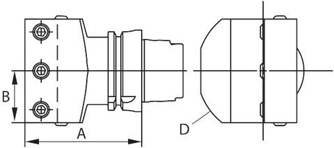 Державка радиальный HSK-T 63