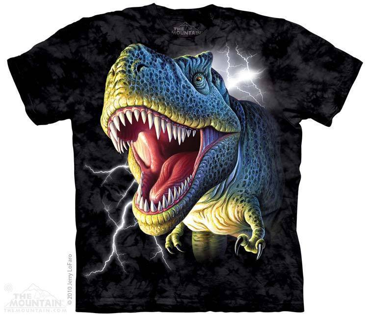 Футболка Mountain с изображением динозавра - Lightning Rex