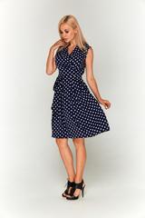 Платье в горошек миди-длины Lolly