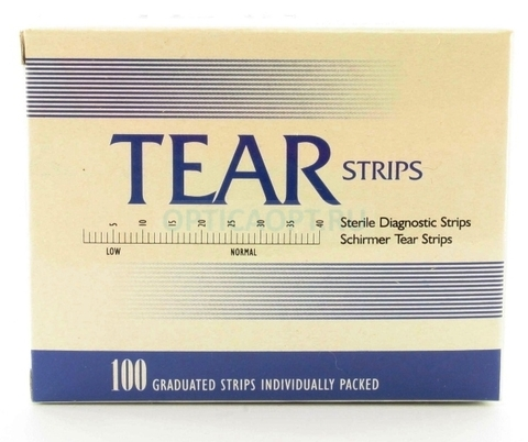 Тест-полоски для Теста Ширмера TearStrips (TEAR FLO, Тест Ширмера) 100 шт