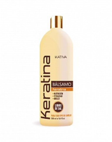 Кератиновый укрепляющий бальзам-кондиционер для всех типов волос KERATINA, 500 мл., Kativa