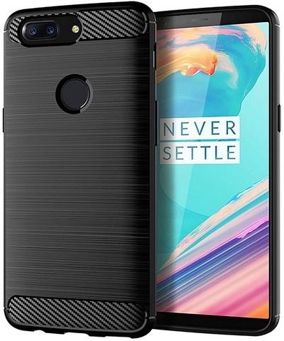 Чехол OnePlus 5T цвет Black (черный), серия Carbon, Caseport
