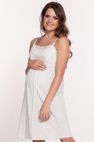 Ночная сорочка для беременных и кормящих 09324 серый меланж