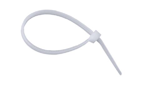 Хомут-стяжка белая KSN-W 5х250