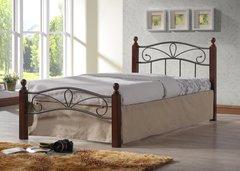 Кровать Глэдис М (90х200) (Металлическое основание/черный)