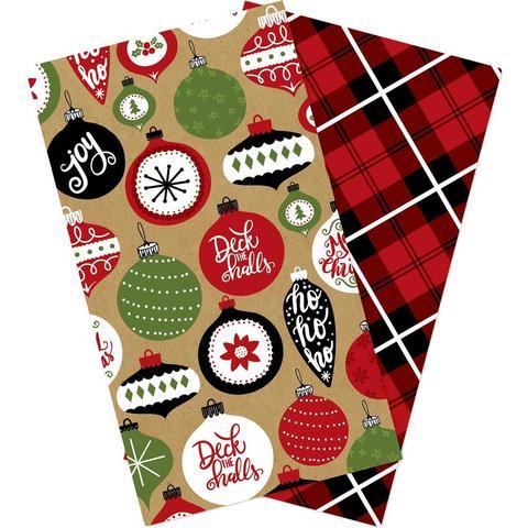 Набор внутренних блоков для тревелбука  - 11х21 см-Echo Park Traveler's Notebook - Celebrate Christmas Blank- 2 шт