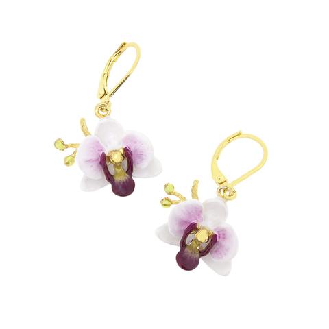 Серьги Орхидея (белая)