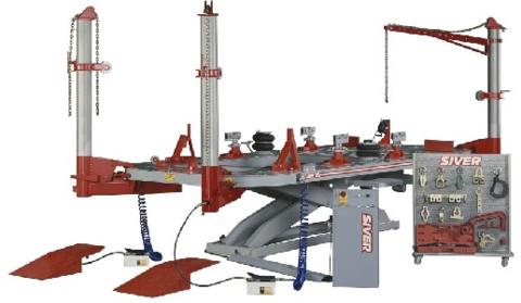 Стапель платформенный с ножничным подъемником SIVER ЕL-210