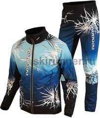 Элитный лыжный костюм Noname ClubLine Elite Softshell Print Blue