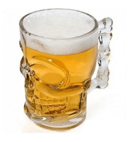 Пивная кружка Череп, 300 мл, стекло
