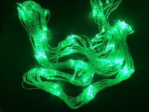 Сітка-гірлянда 120 LED C NET 1.2 на 1.2 м. зелена
