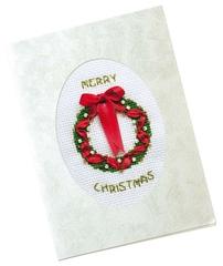 Набор для вышивания Riolis Открытка «Рождественский венок»