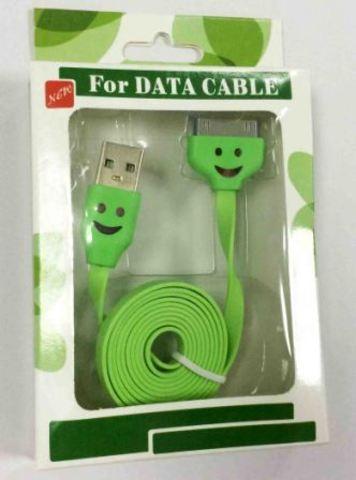 кабель USB Iphone 4S/4G/3GS Led 32213 green