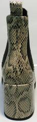 Полусапожки женские на каблуке Kluchini 13065 k465 Snake.