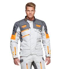 Мотокуртка Sweep GPX 4-season, серый/оранжевый