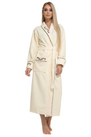 Махровый халат из бамбука Caramele 709 кремовый PECHE MONNAIE Россия