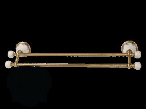 Полотенцедержатель двойной 60см. Migliore Provance ML.PRO-60.523 керамика с декором