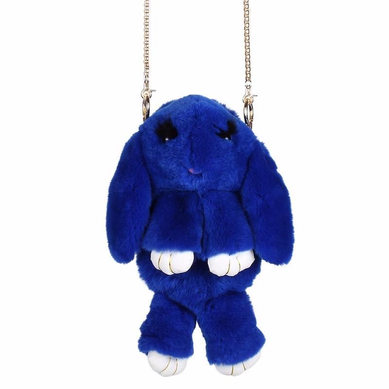 Синий вариант цвета сумки кролик