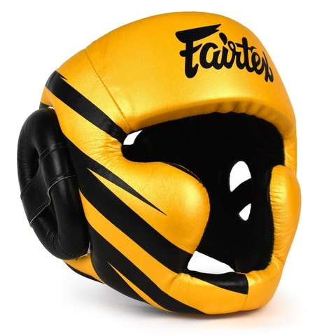 Шлем Fairtex Headguard HG16M1 Yellow/Black