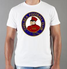 Футболка с принтом FC Chelsea (ФК Челси) белая 001