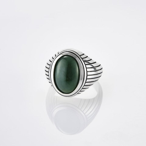 Кольцо HORUS - Нефрит 15 размер