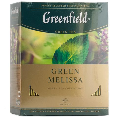 Чай зелёный Greenfield Green Melissa 100*1,5г