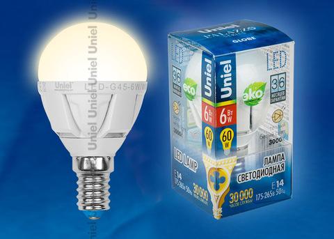 LED-G45-6W/WW/E14/FR ALP01WH Лампа светодиодная. Форма