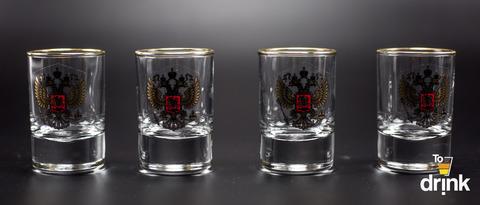 Подарочный набор из 4 стопок для водки «Империя», 60 мл