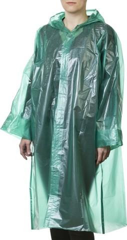 Плащ-дождевик STAYER 11610, полиэтиленовый, зеленый цвет, универсальный размер S-XL