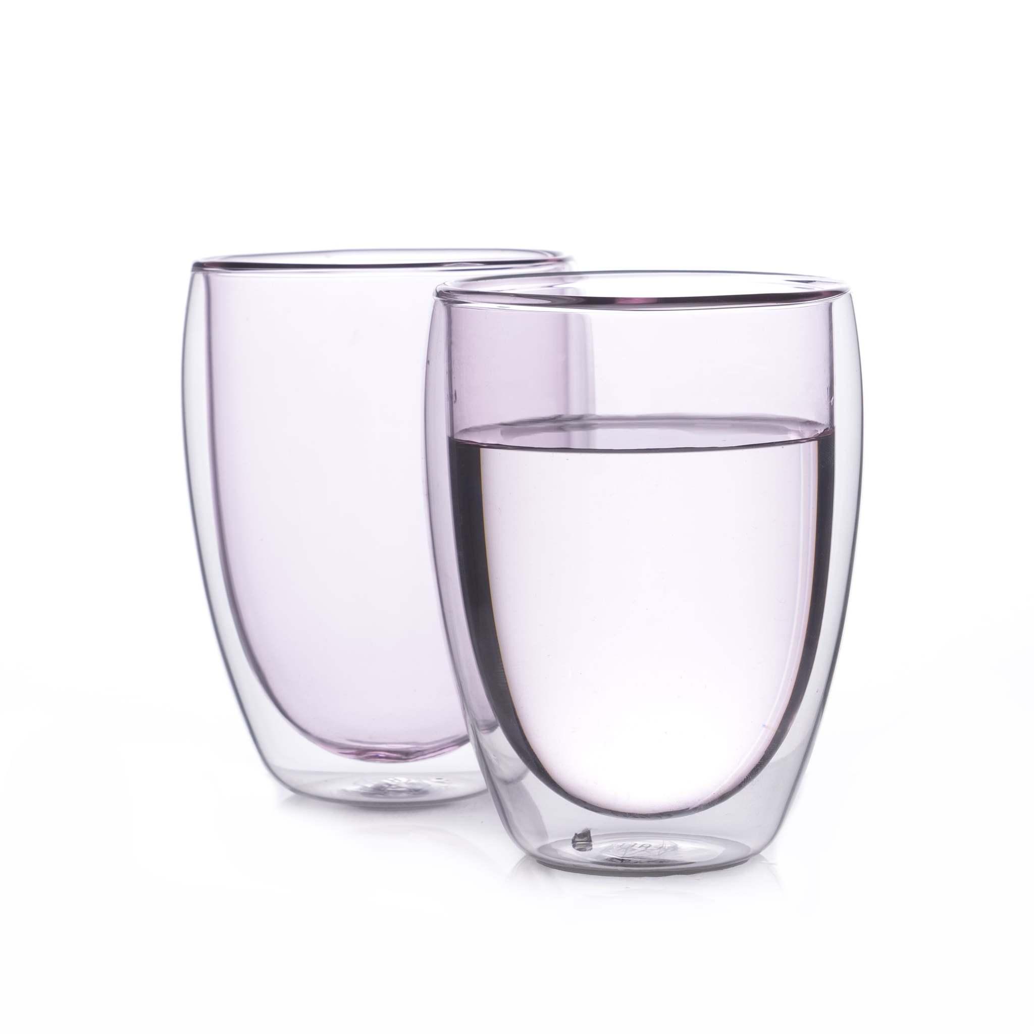 Наборы-Акции Набор стаканов из двойного стекла розового цвета 350 мл, 2 шт. розовый2-min.jpg