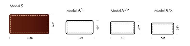 бювар модель 9. примеры размеров.