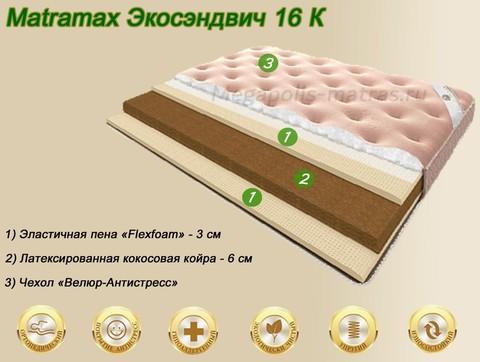 Матрамакс Экосэндвич 16 К в Megapolis-matras.ru