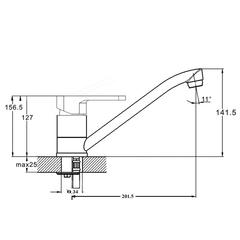 Смеситель для кухни Zegor PAN4-A